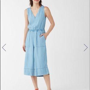 NWOT Splendid Indigo Linen Jumpsuit Large